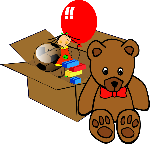 Box Full Of Toys Clip Art At Clker Com   Vector Clip Art Online