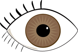 Brown Eye Clip Art Image   Clipart Panda   Free Clipart Images