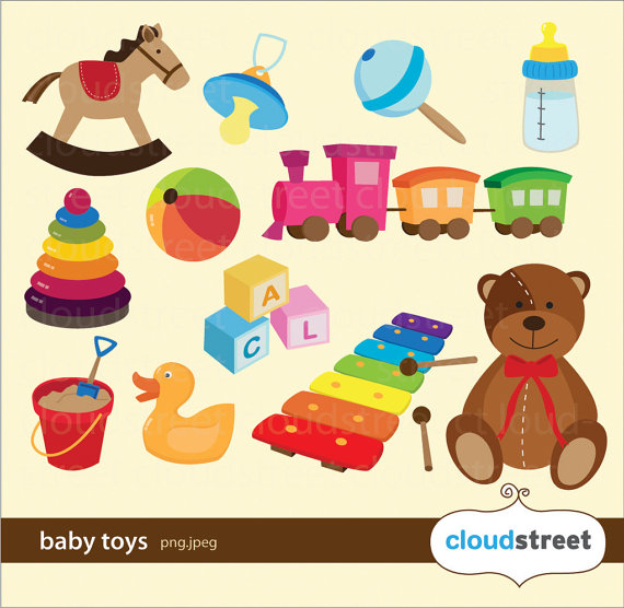 Buy 2 Get 1 Free Baby Toys Clipart For Personal And Commercial Use