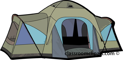 Camping   Campers Tent 0409   Classroom Clipart
