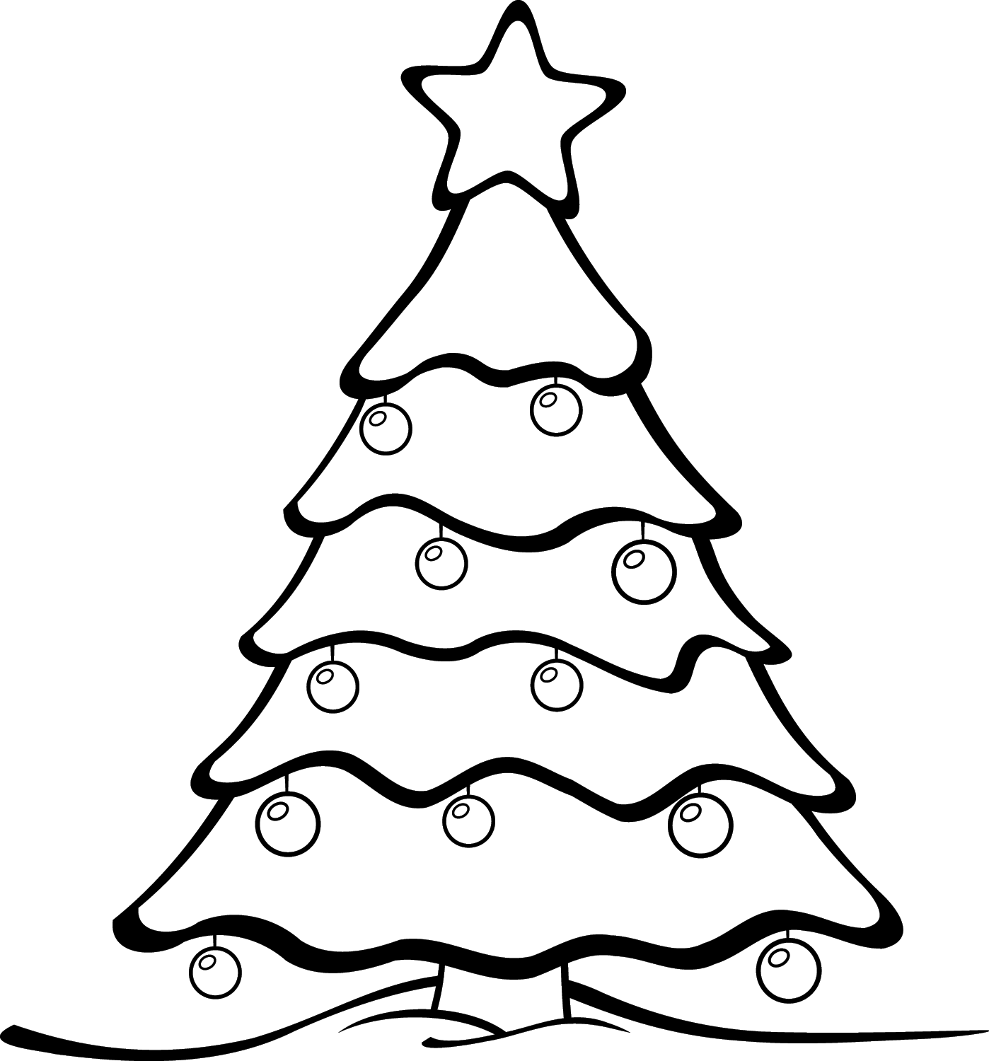 Simple black and white christmas clipart suggest