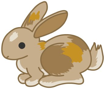 Clip Art Of A Brown Bunny Rabbit Ready To Hop In Profile