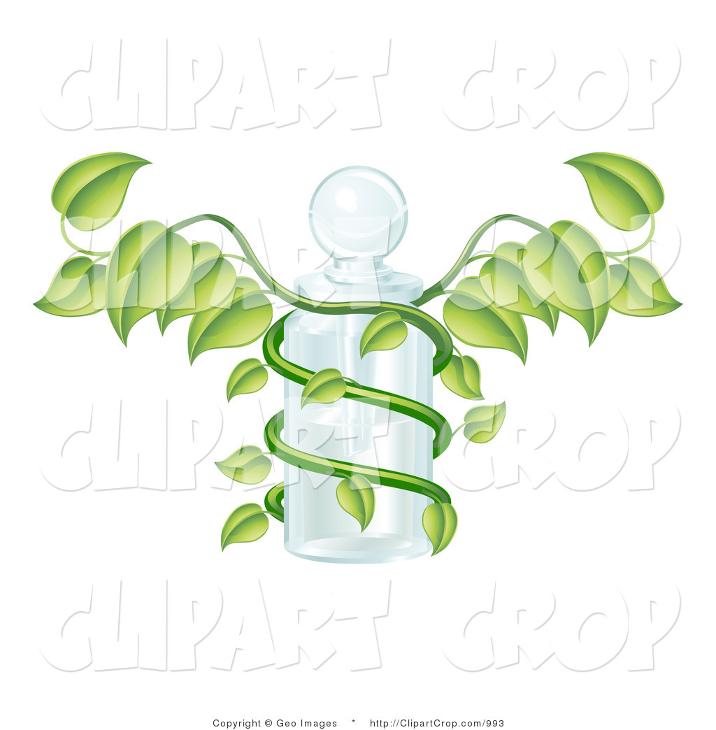 Clip Art Of A Medicine Bottle And Vine Caduceus By Geo Images    993