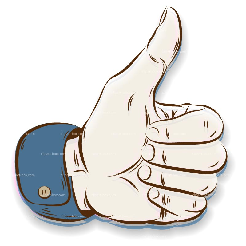 Clipart Hand   Thumb Up   Royalty Free Vector Design