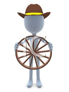 Clipartwagon Wheel Propped Against A Person Wearing And At Clipart