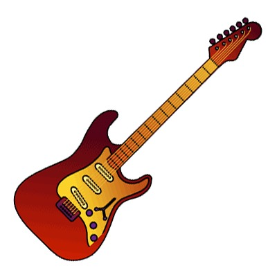 Electric Guitar Clipart Rock  N  Roll Music Icon   Just Free Image