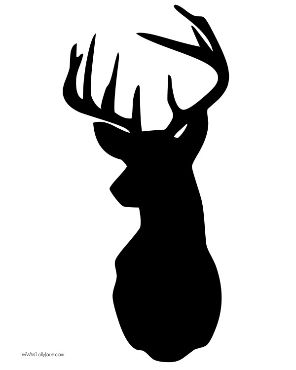 Clip Art Buck Clipart buck black and white clipart kid free deer head clip art in high res great for printables home
