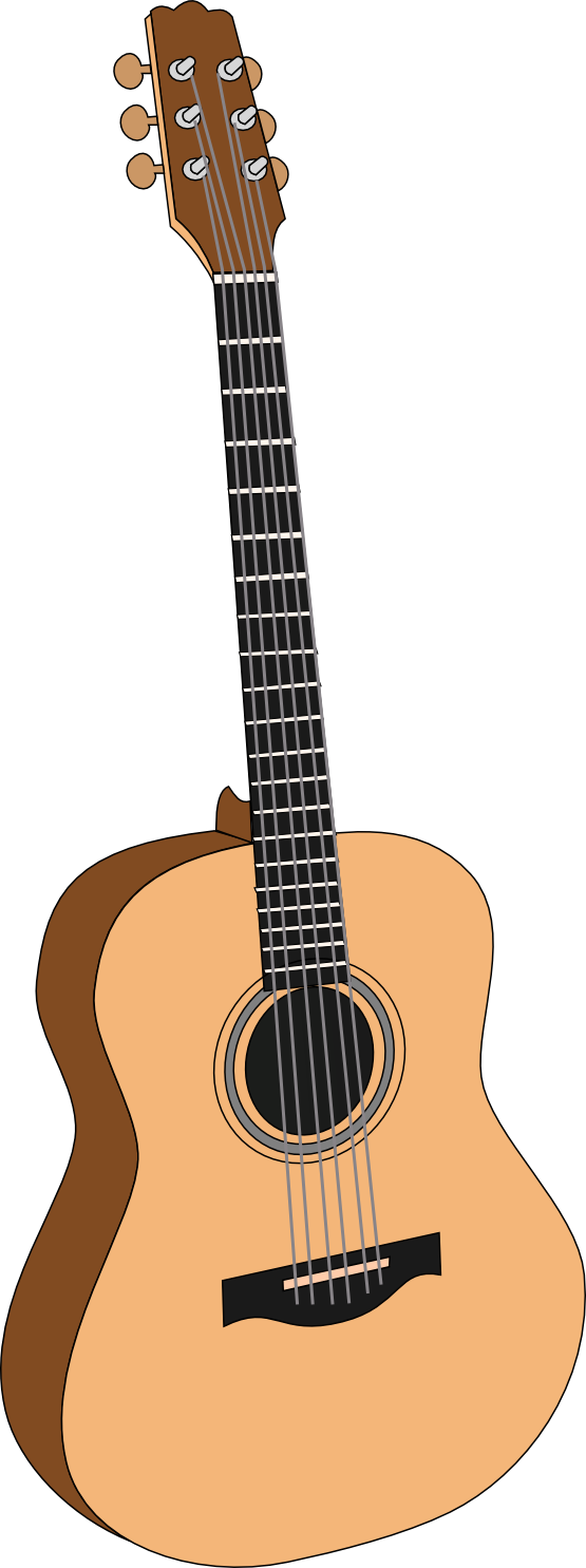 Acoustic Guitar Clipart - Clipart Kid