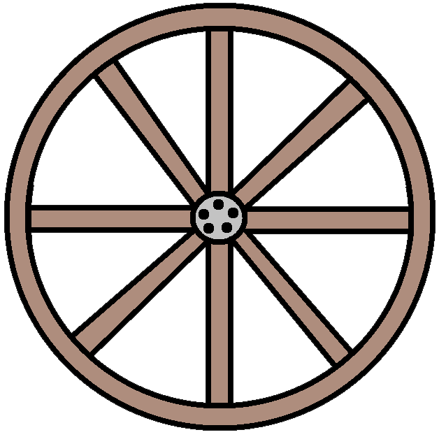 Western Wagon Wheel Clipart - Clipart Suggest