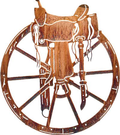 Home   Western Decor   Western Wall Art Decor   Wagon Wheel And