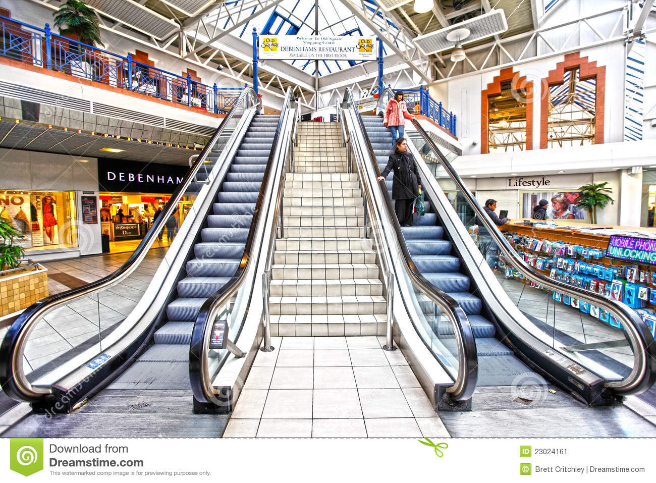 escalator with people clip art