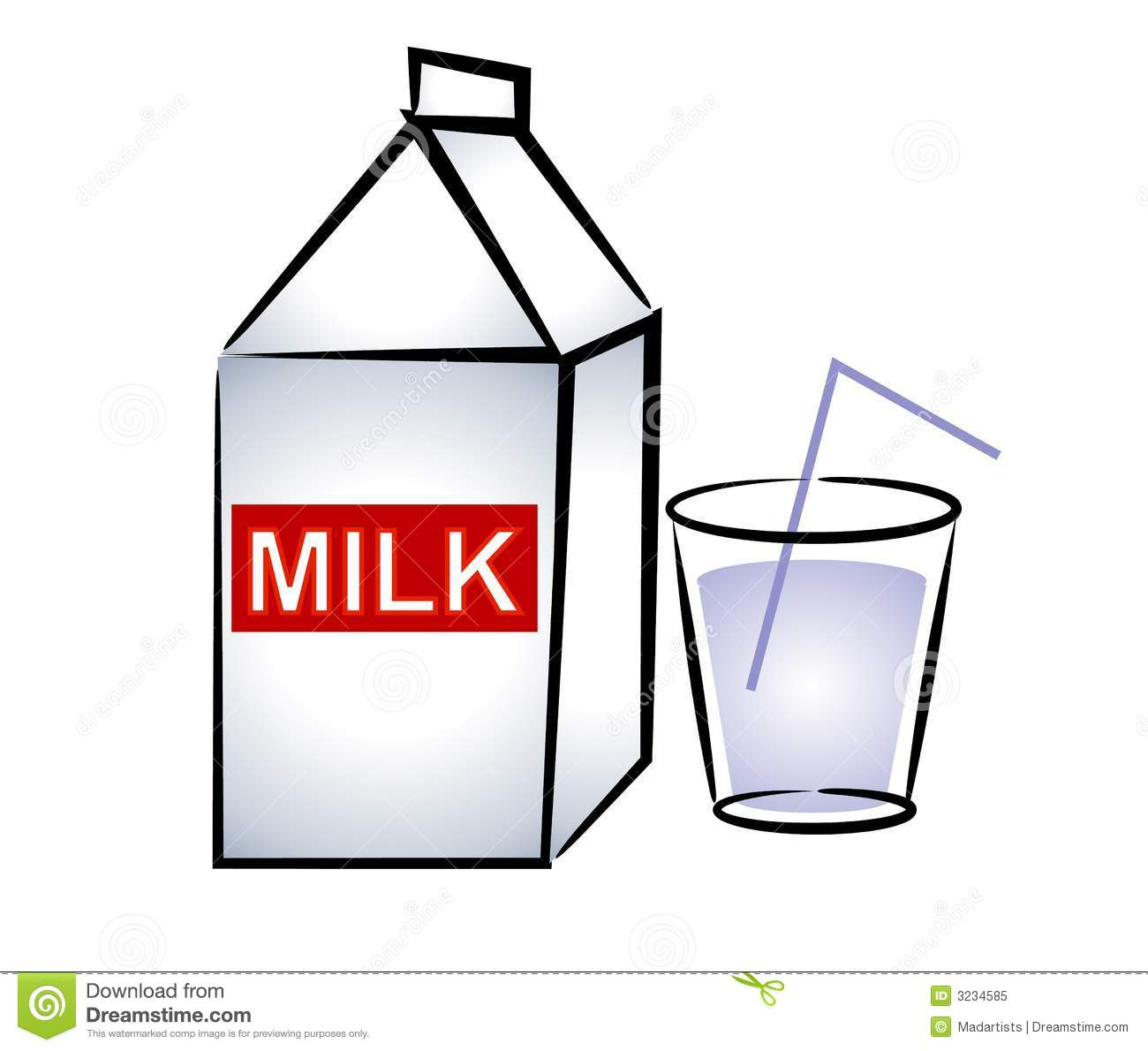 clipart of a glass of milk - photo #2