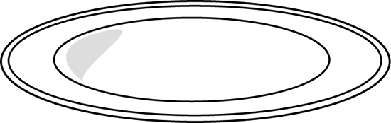 Plate Clip Art Image   Black And White Outline Of A Large Dinner Plate