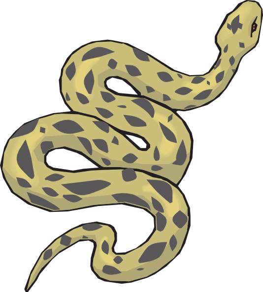 Slithering Yellow Snake Clip Art At Clker Com   Vector Clip Art Online