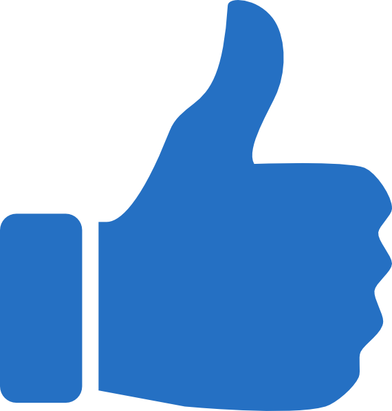Thumbs Up Icon Blue Clip Art At Clker Com   Vector Clip Art Online