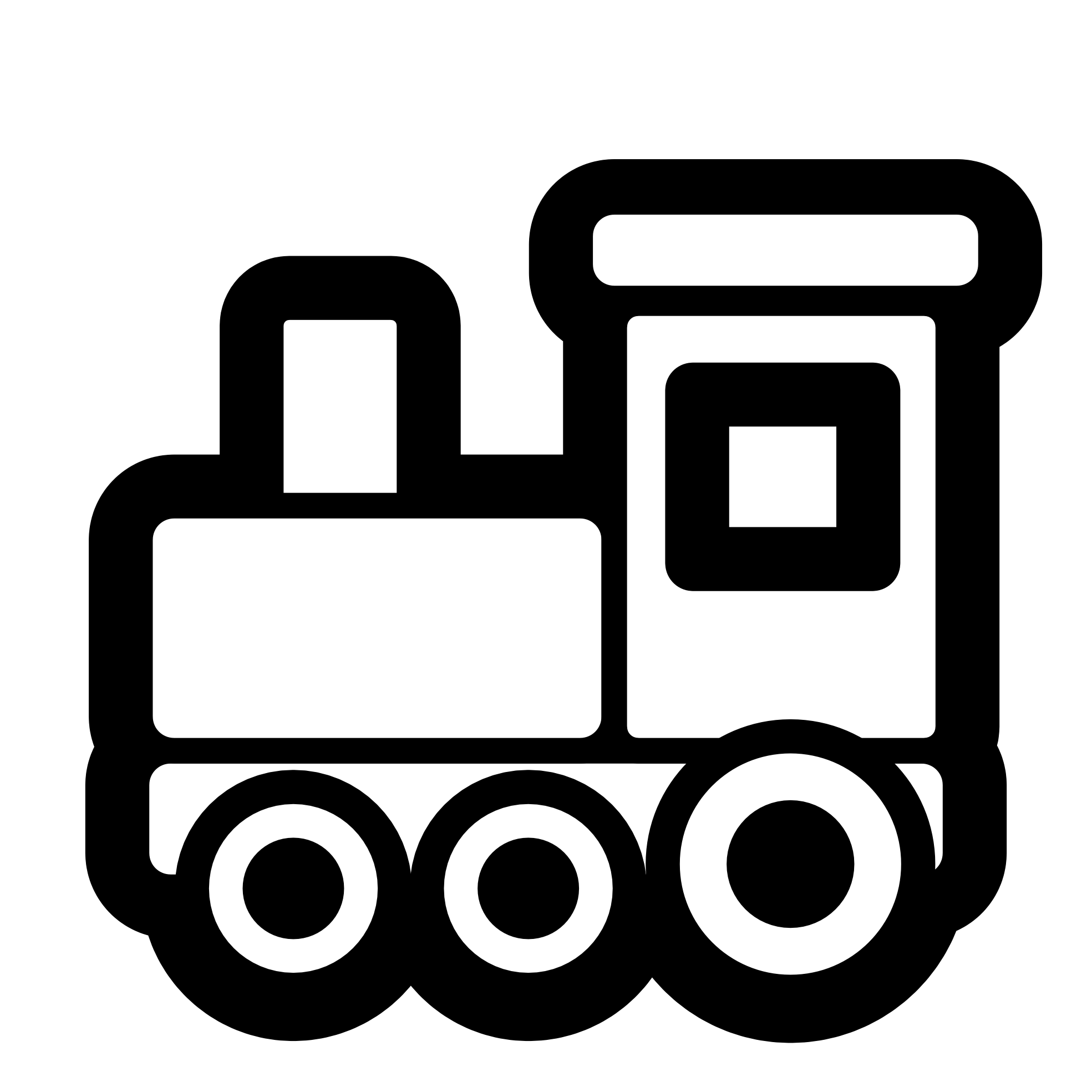 Toy Train Icon Black White Line Art Scalable Vector Graphics Svg