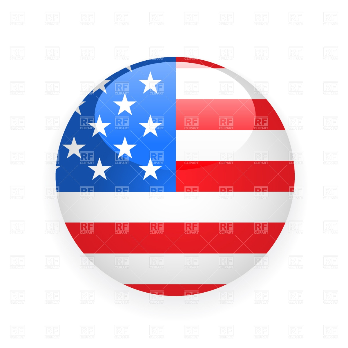 Usa Button Flag Download Royalty Free Vector Clipart  Eps