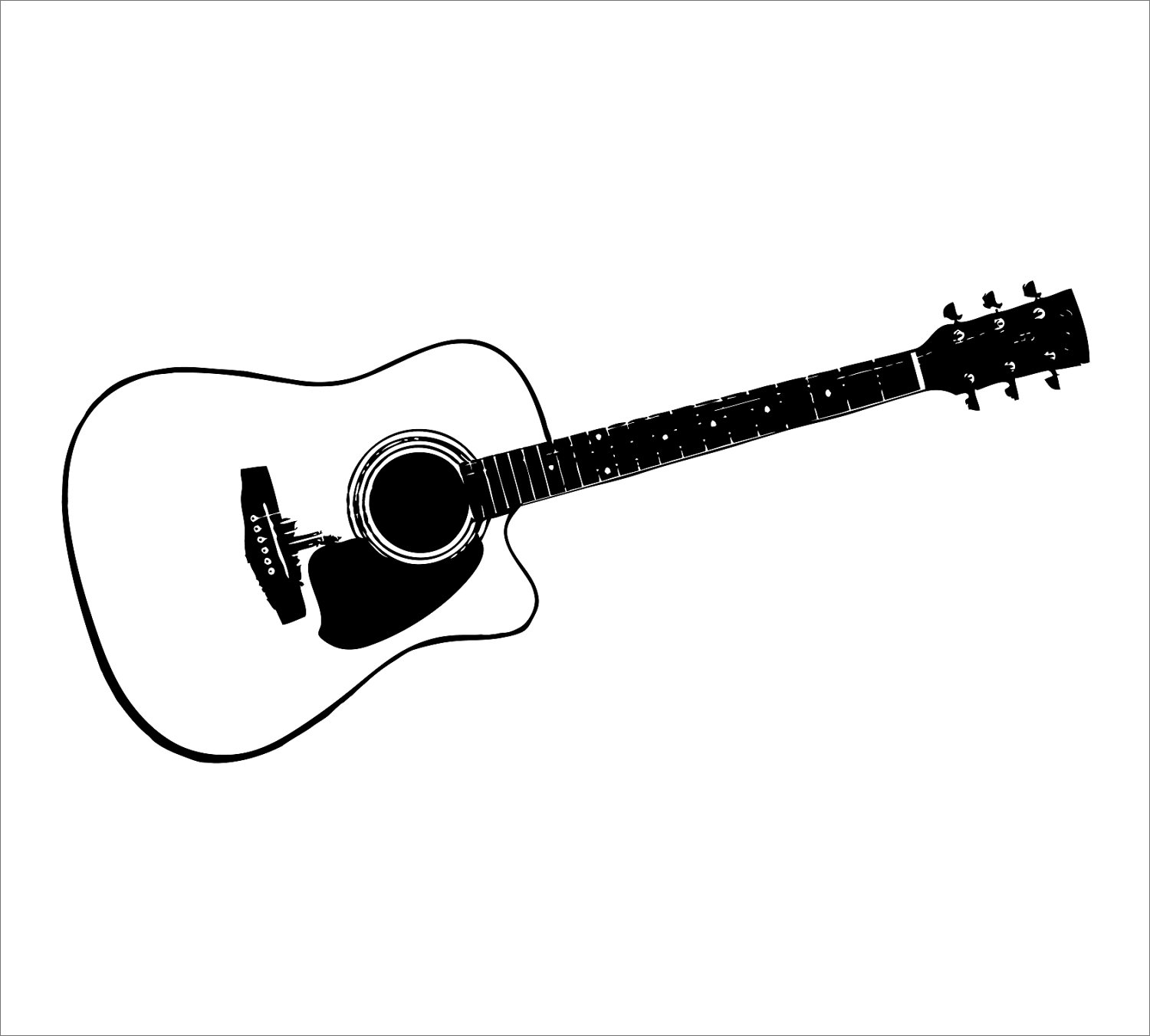 Clip Art Guitar Clipart Black And White guitar black and white clipart kid use these free images for your websites art projects reports and