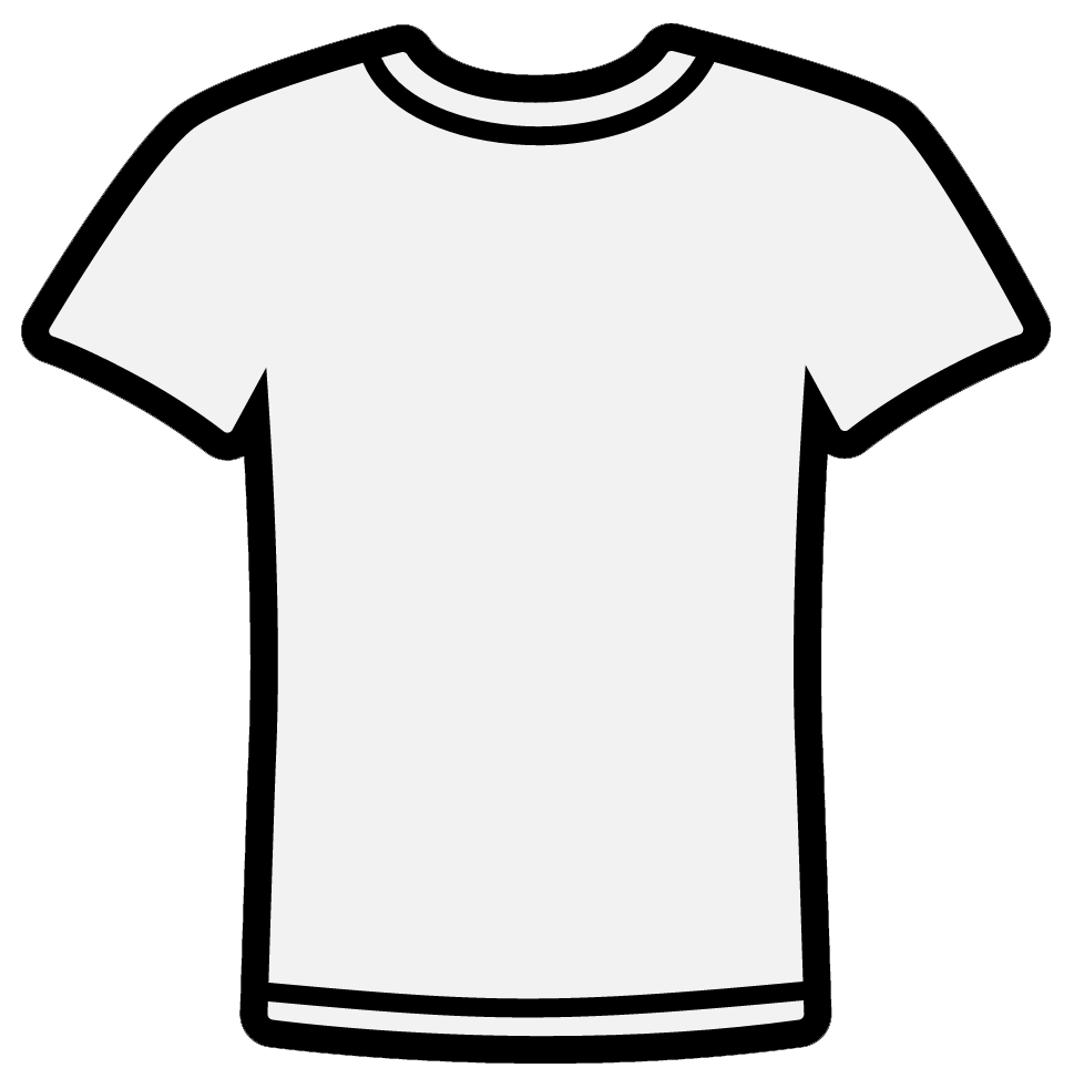 Clip Art Black And White Shirt Clipart - Clipart Suggest