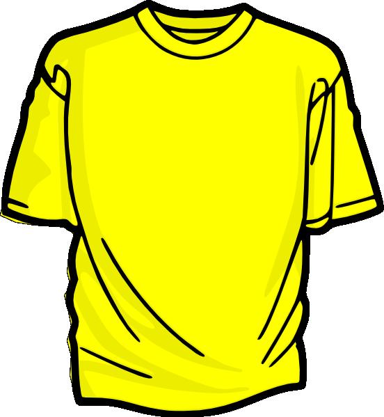 Clip Art Clipart T-shirt t shirt outline clipart kid yellow clip art at clker com vector online royalty