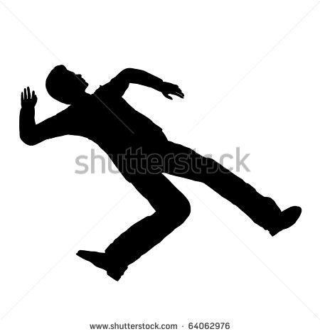 Accident Person Pose Silhouette Illustration   Stock Photo