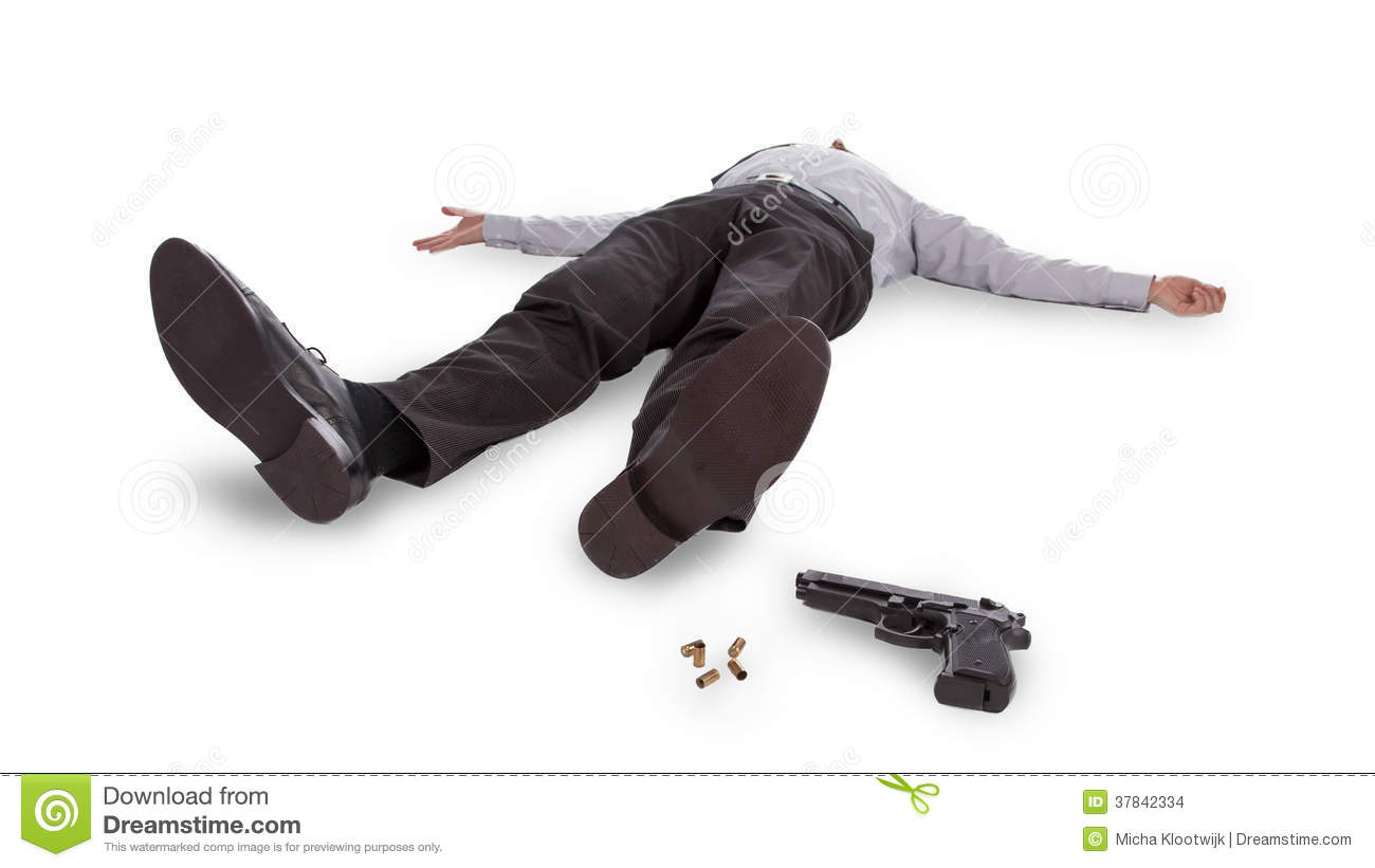 Businessman Lying Dead In The Floor Stock Images   Image  37842334