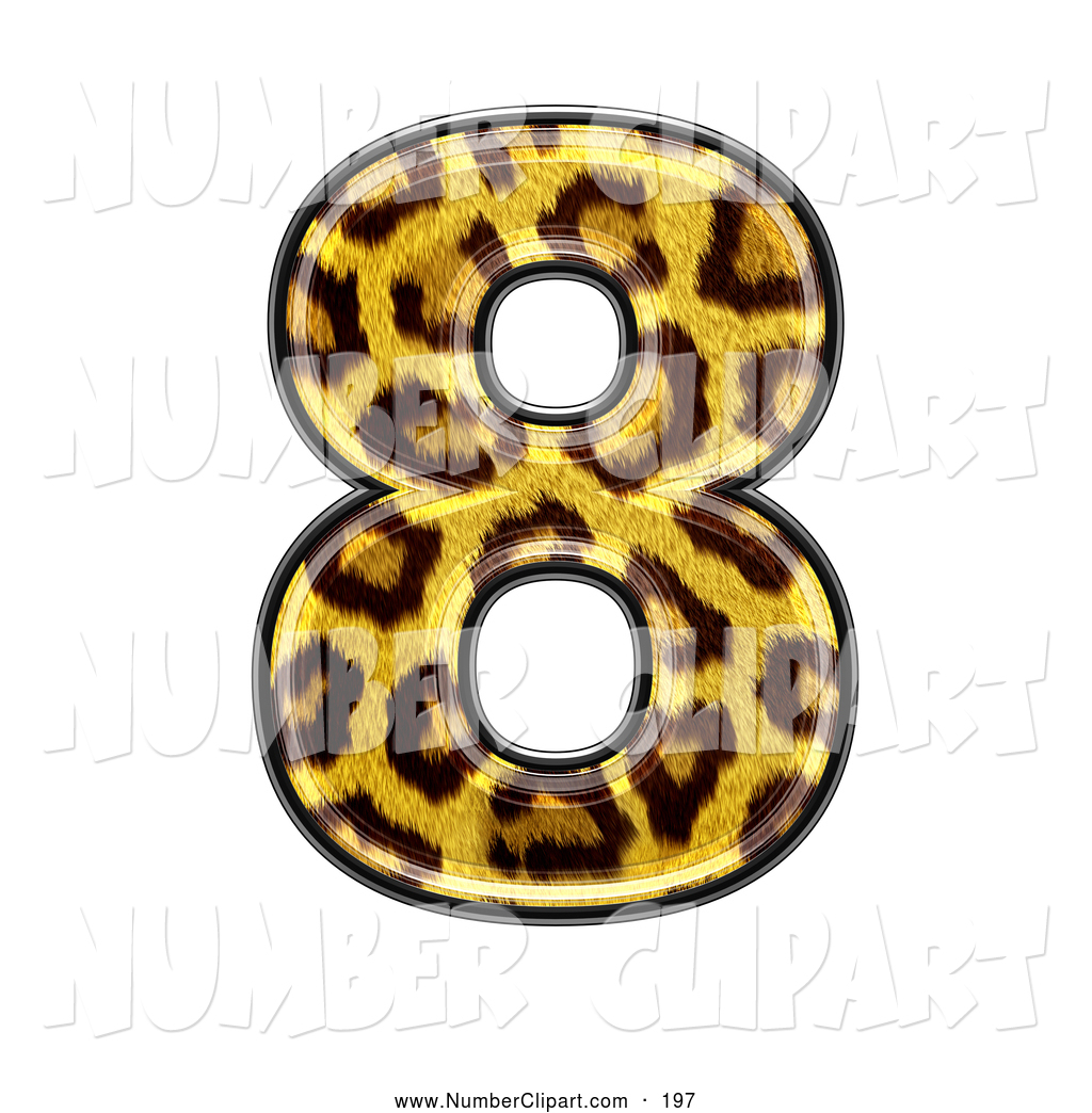 Clip Art Of A Panther Symbol  Number Eight
