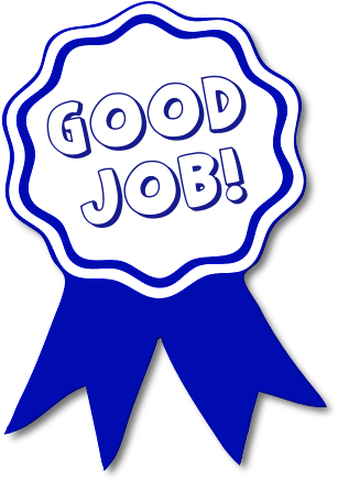 Good Job Blue Ribbon    Education Awards Good Job Blue Ribbon Png Html
