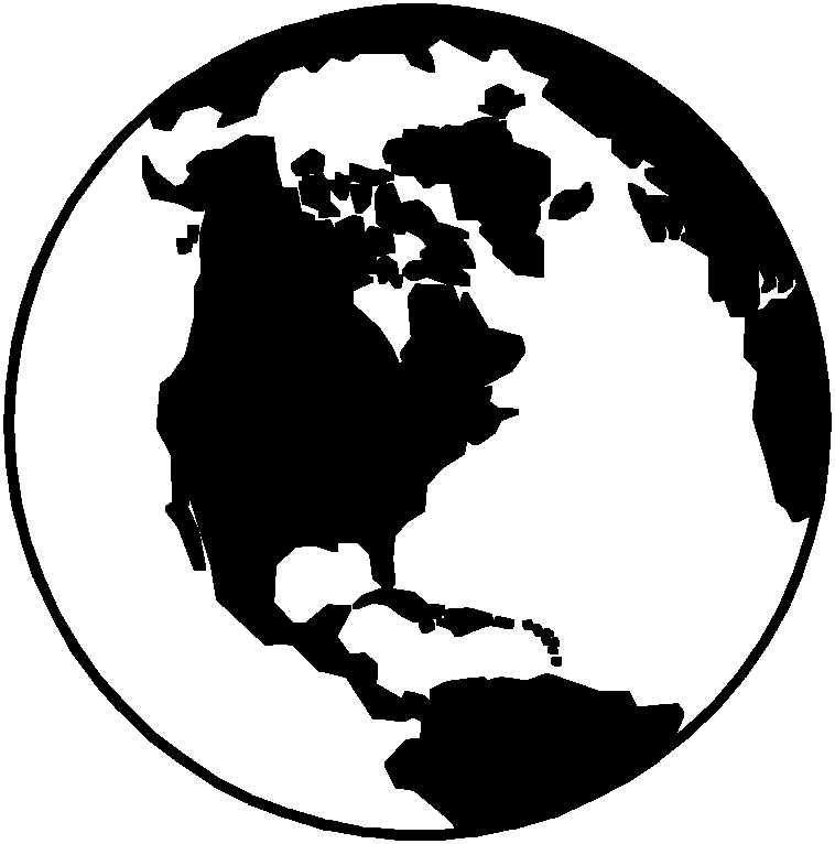 World Globe Black And White Clipart Clipart Suggest