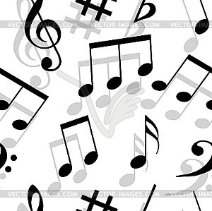 Music Notes  Seamless Pattern    Vector Clip Art