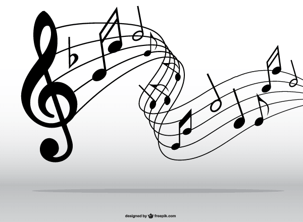 Clip Art Music Notes Pattern Clipart - Clipart Kid