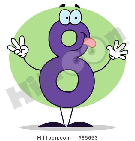 Number Eight Clipart   Vectors  1
