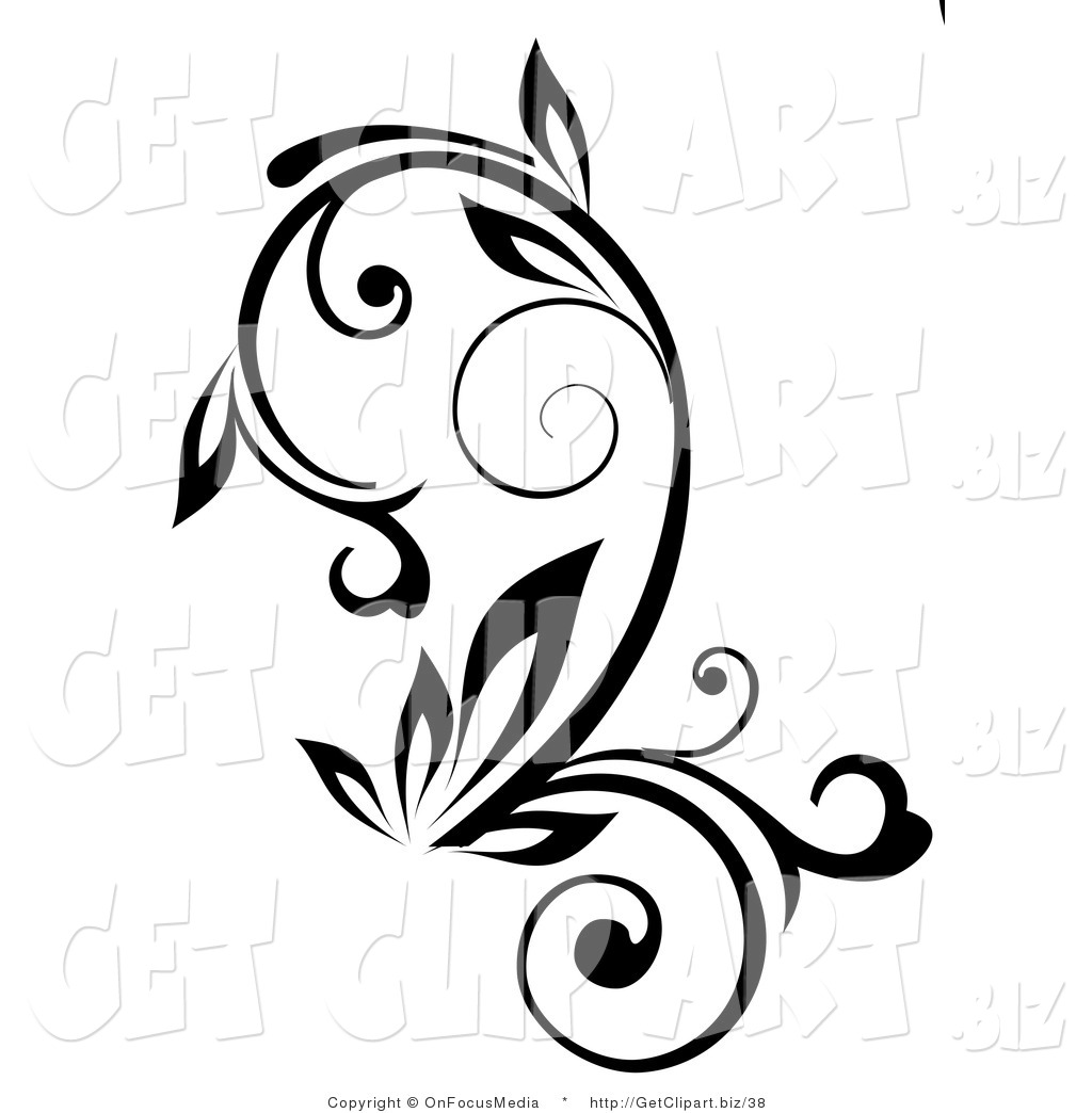 Plant Growing Black And White Clipart Royalty Free Stock Get Clipart