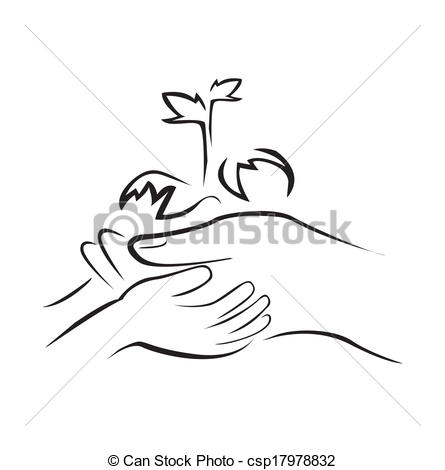Plant In Hands Clip Art Hand Holding Green Plant