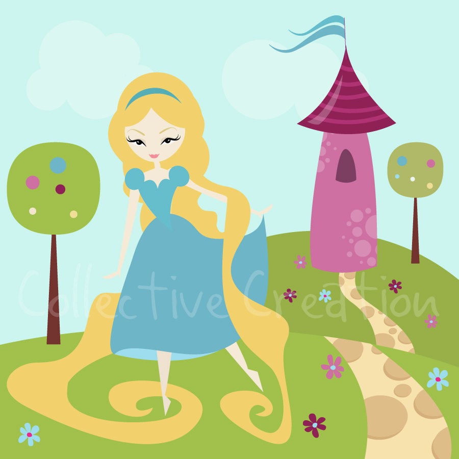 Rapunzel   Tangled Digital Clipart Personal By Collectivecreation