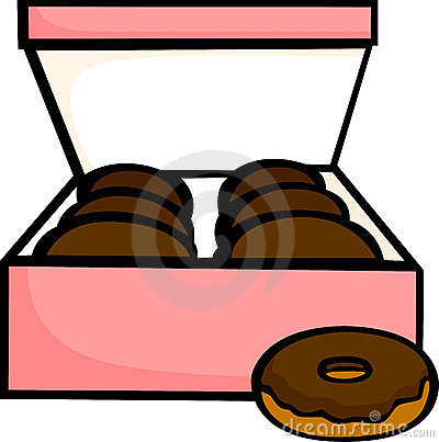 Box Of Donuts Clipart Chocolate Donuts Box Vector