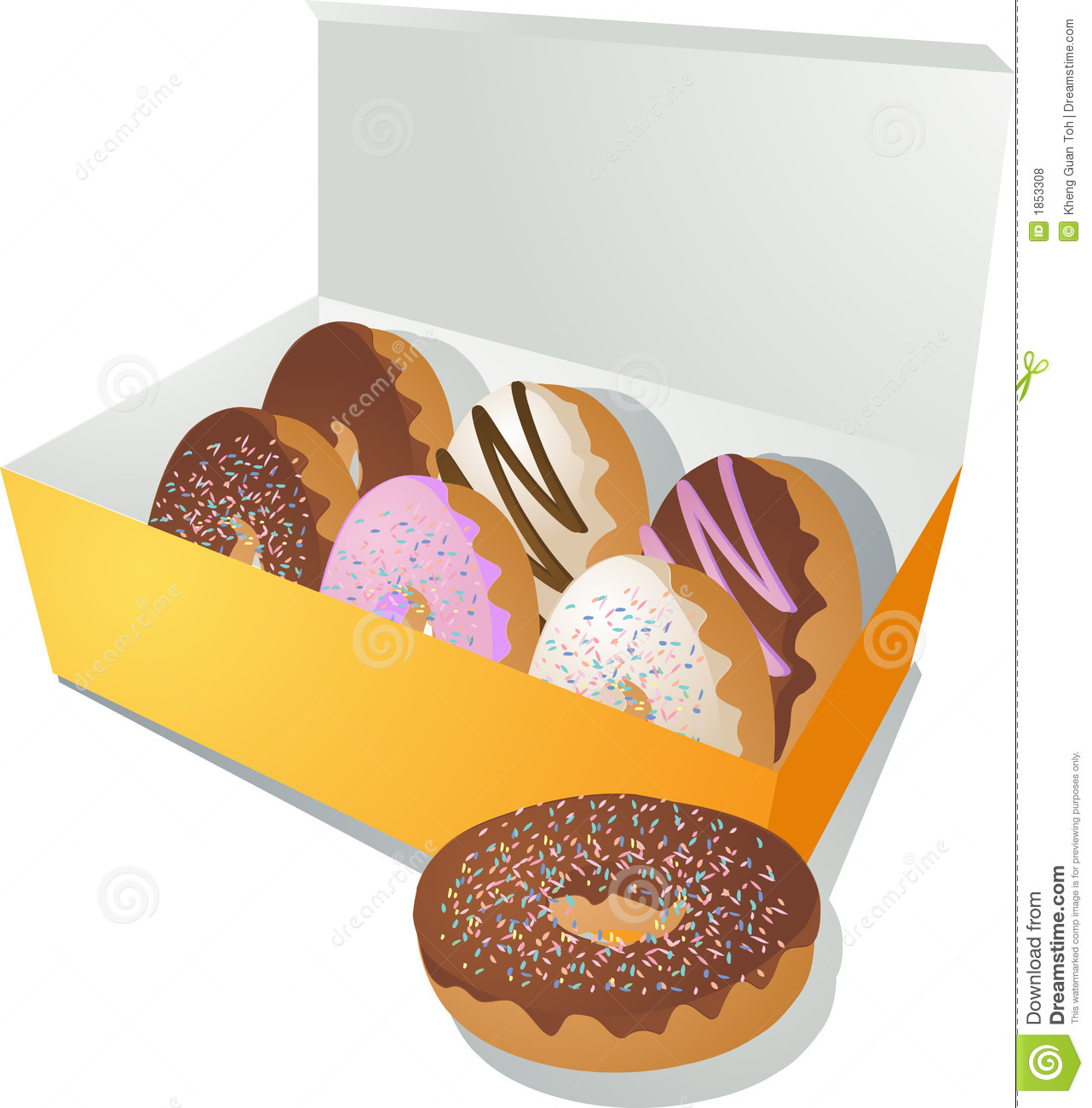 Box Of Donuts Clipart Donuts In A Box Royalty Free
