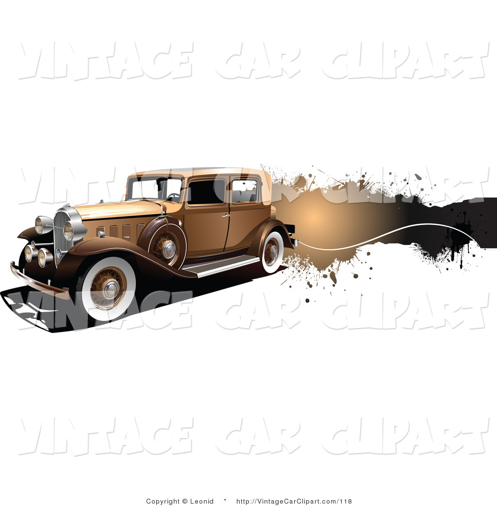 Brown Car Clipart Royalty Free Stock Vintage Car