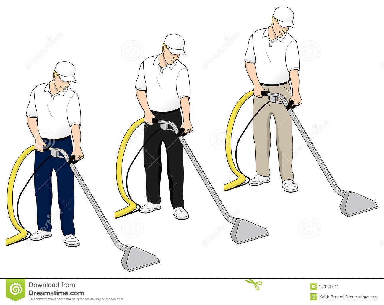 Carpet Cleaning Tech Clip Art Set 4 Royalty Free Stock Photography