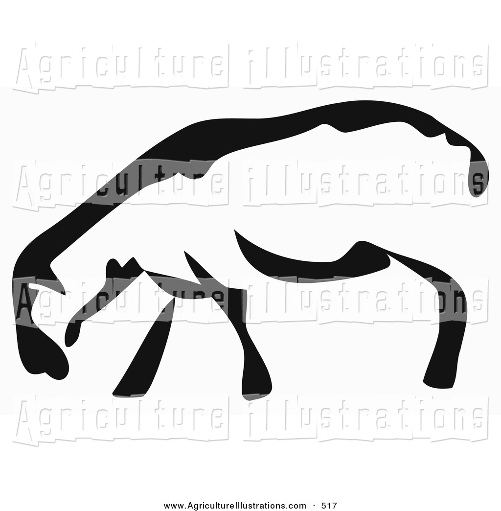 Clipart Of A Black And White Paintbrush Stroke Styled Sheep