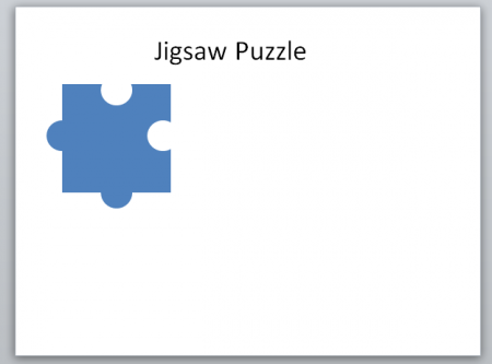 Create A Jigsaw Puzzle Piece In Powerpoint Using Shapes   Powerpoint