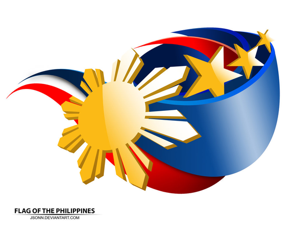 Flag Of The Philippines By Jsonn   Free Images At Clker Com   Vector