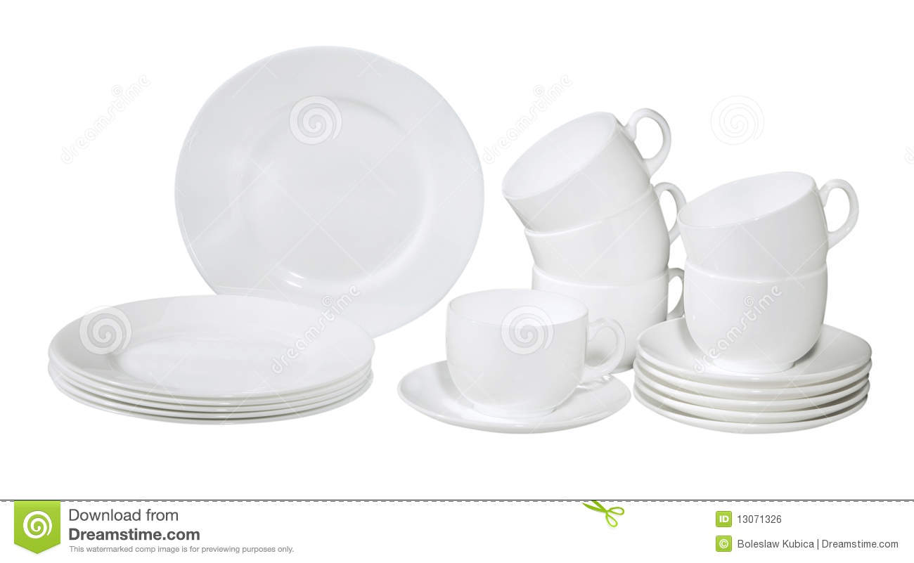 Fresh Washed Plates And Dishes Isolated On White Mr No Pr No 3 843 9