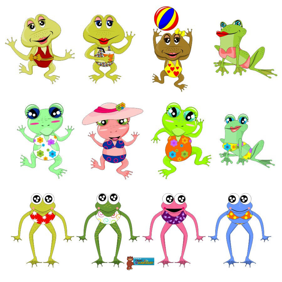 Bears And Frogs Clipart - Clipart Kid