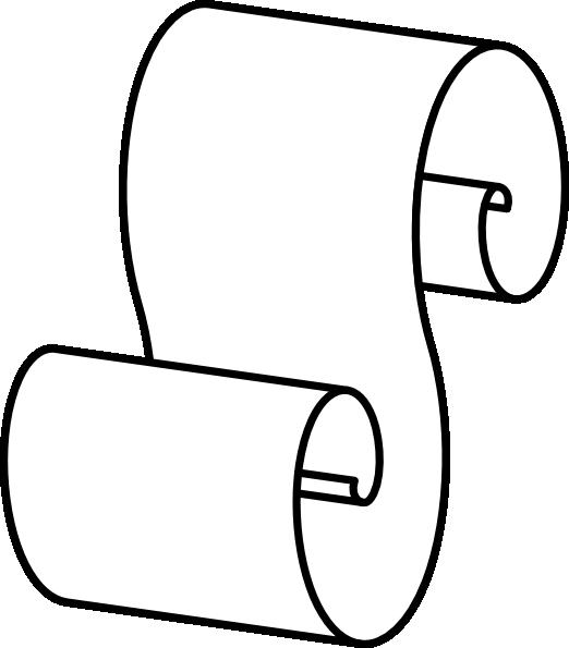 Paper Scroll Clip Art At Clker Com   Vector Clip Art Online Royalty