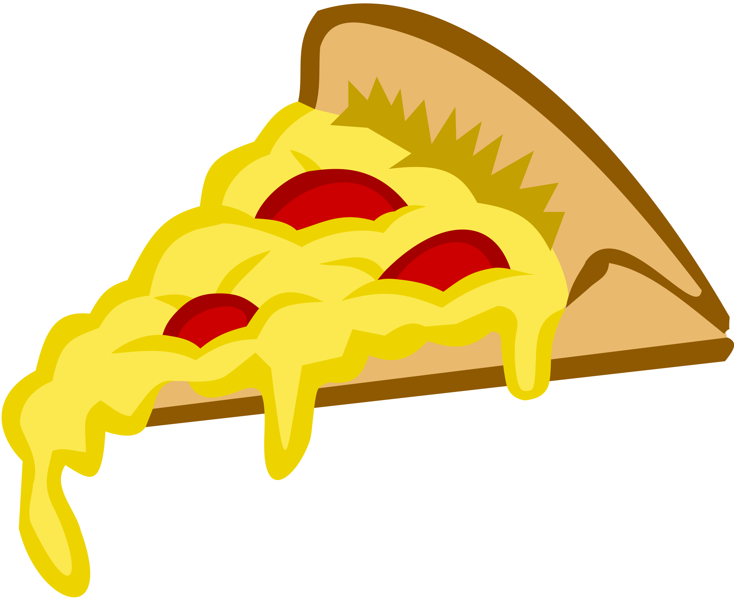 Pizza Clip Art Pizza Slice In Tango Colors Png