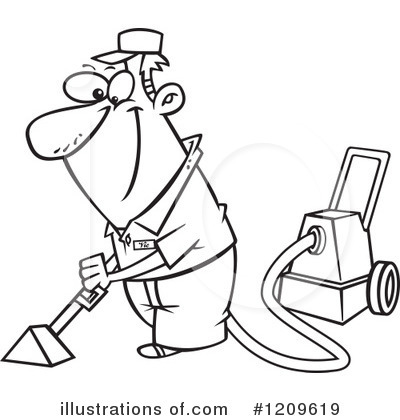 Royalty Free  Rf  Carpet Cleaning Clipart Illustration By Ron Leishman