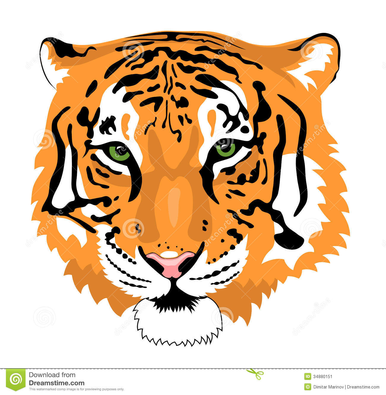 free tiger head clip art - photo #43