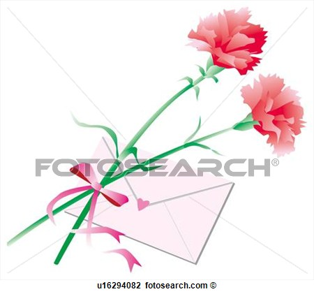 Art   Carnations And Letter Mother S Day  Fotosearch   Search Clipart