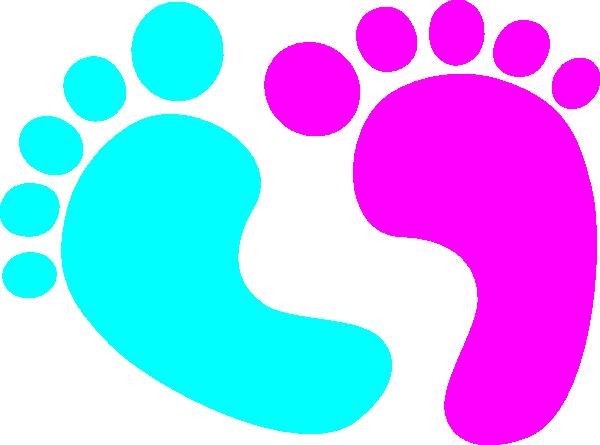 Blue Baby Feet Clipart - Clipart Kid